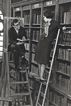 Woody Allen in the library. Okay.