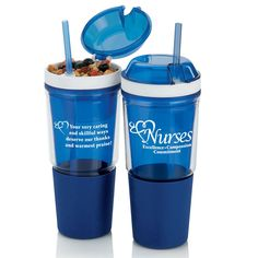 Nurses Excellence Compassion Commitment Sip 'N' Snack Tumbler | Positive Promotions