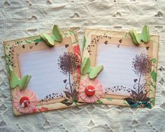 Shabby vintage inspired journaling boxes