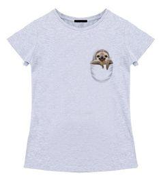 Забавная футболка с ленивцем