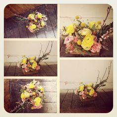 My floral arrangement from today's class at the little branch. Such a fun way to spend an afternoon.