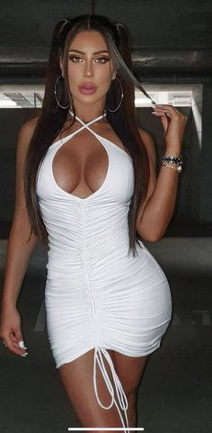 Curve Dresses, Sexy Dresses, Fashion Dresses, Ivory Dresses, Curvy Women Fashion, White Fashion, Rompers Women, Jumpsuits For Women, Swim Cover Up Dress