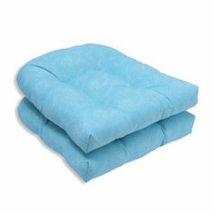 Pillow Perfect Outdoor/ Indoor Nabil Caribbean Wicker Seat Cushion (Set of 2)