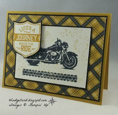 Windy's Wonderful Creations: #GDP063 A Motorcycle Adventure! , Stampin' Up!, One Wide Rde, Warmth & Cheer DSP