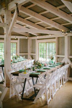 barn reception, photo by Emily Delamater http://ruffledblog.com/marianmade-farm-wedding #weddingideas #weddingreception