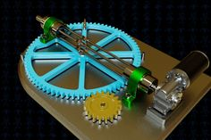 Variable Angle Transmission Mechanism | 3D CAD Model Library | GrabCAD Mechanical Gears, Mechanical Design, Mechanical Engineering, Chicken Coops Homemade, Wooden Gears, 3d Cad Models, Robot Design, Variables, Optical Illusions