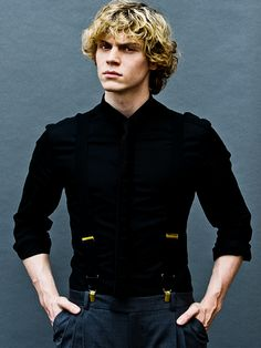Evan Peters photographed by Eric Williams || American Horror Story ⇒ Murder House ⇒ Asylum ⇒ Coven ⇒ Freakshow
