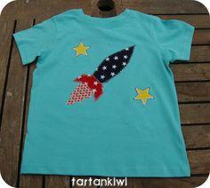 Cool rocket tee.   Bits and Bobs | Tartankiwi