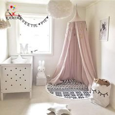 Cheap crib net, Buy Quality baby crib nets directly from China baby net crib Suppliers: Palace Style Baby Crib Netting Bed Mantle Bed Nets Dome Tent Kids Room Decor Infants Sleep Bedside Crib Netting barraca infantil Baby Bedroom, Nursery Room, Girls Bedroom, Nursery Ideas, Baby Bedding, Nursery Decor, Wall Decor, Bedroom Decor, Girl Rooms