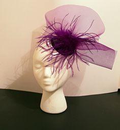 SALE Purple Crinoline and Ostrich Feather by BelledeBenoir on Etsy, $20.00
