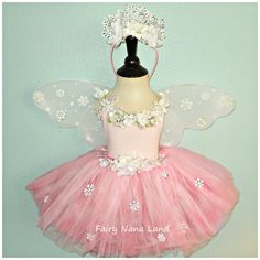 PINK SNOW FAERIE Childrens size 2/4 Snowflake by FairyNanaLand, $50.00
