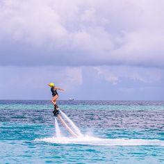 Dancing Through Life, Even On Jetblades  Maldives, Indian Ocean  www.theroadlestraveled.com
