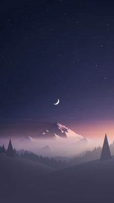 Stars And Moon Winter Mountain Landscape iPhone se wallpaper Iphone 5s Wallpaper, Wallpaper Space, Graphic Wallpaper, Star Wallpaper, Scenery Wallpaper, Landscape Wallpaper, Aesthetic Iphone Wallpaper, Nature Wallpaper, Aesthetic Wallpapers