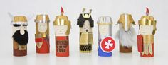 History characters to build from toilet paper rolls!  If I make a couple of each I might even be able to allow armies to attack each other!