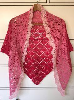 """Zonneschijn sjaal naar patroon uit het boek """"kant haken"""""""