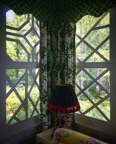 custom latticework panels for the windows