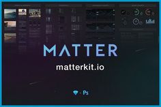 Matter UI Kit for Sketch & Ps by matter on @creativemarket