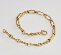Vintage 14K Gold Charm Bracelet - C1940, Single Link on Etsy, $399.00