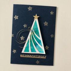 Karten-Kunst » Weihnachtspost mit klarer Linie