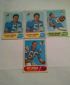 nice Lot of 4 Vintage Football Cards - For Sale View more at http://shipperscentral.com/wp/product/lot-of-4-vintage-football-cards-for-sale/