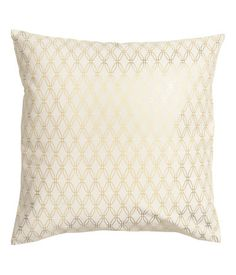 Cushion cover in cotton twill with a shimmery printed pattern and concealed zip.