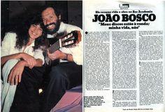"""João Bosco: """"Meus discos estão à venda; minha vida, não"""" - artigo na revista """"Manchete"""" de 1984 - página 1/1."""