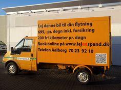 Billede af en af vores flyttebiler som udlejes fra aalborg afdelingen. http://lejenspand.dk/Biludlejning-Aalborg.html