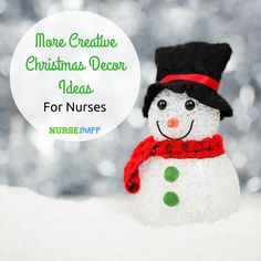 More Creative Christmas Decor Ideas For Nurses #nursebuff #christmasdecor #nurses