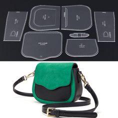 LEATHER CRAFT CLEAR Acrylic Shoulder Bag Handbag Pattern Stencil Template 7Pcs - $15.82   PicClick