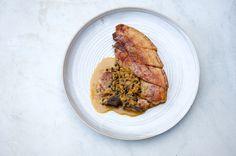 T-bone Pork Steak with Brandy-spiked Peppercorn Sauce - the British Larder