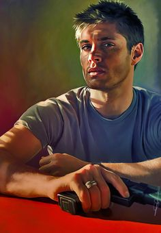 Dean Winchester by euclase. | View his gallery for more incredible portraits of geek icons. http://euclase.deviantart.com/gallery/