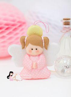 Felt Kids, Felt Baby, Toy Art, Erica Catarina, Felt Angel, Christmas Jesus, Angel Crafts, Felt Decorations, Felt Patterns