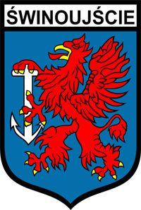 Coat of arms, flag, logo - Świnoujście - The land of 44 islands City Logo, Flag Logo, Baltic Sea, Small Island, Coat Of Arms, Logo Nasa, Herb, Design, North West