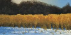 """""""Winter Amber"""" by John Dean, Acrylic on stretched canvas,  20"""" x 40"""""""