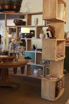 book shelf | large bookshelf | curved bookshelf | light wood | boxed shelving | home accent | home essential