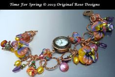 Time+for+Spring-Copper+wire-chain+watch+charm+by+originalrose