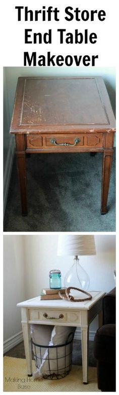 Thrift Store End Table Makeover by robyn