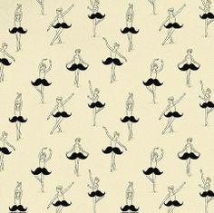 moustache ballerinas pattern