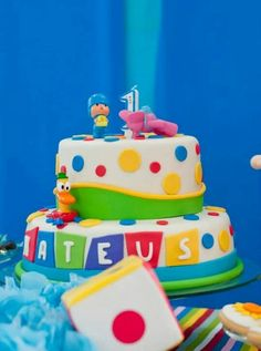 Torta de Pocoyo Ideas Para Fiestas, Birthday Cake, Cakes, Desserts, Food, Birthday Cakes, Baby Things, Party, Dessert Tables