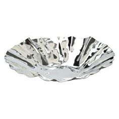 """Craft a chic vignette in your living room, foyer, or den with this eye-catching design, masterfully crafted for tempting style and lasting appeal.   Product: BowlConstruction Material: Silver-plated ironColor: SilverDimensions: 1.5"""" H x 8"""" DiameterCleaning and Care: Wipe with dry cloth"""
