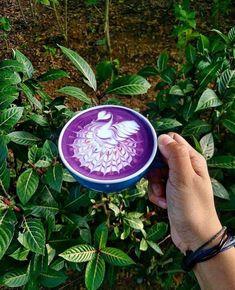 Would you do purple latte?☕ Tag a friend you think would! Coffee Geek, Coffee Latte, Coffee Lovers, Espresso Maker, Espresso Machine, Coffee Accessories, Coffee Culture, Latte Art, Black Coffee