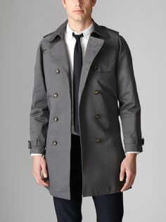 Double Breasted Trench Coat, Shades of Grey