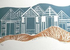 Norfolk Beach Huts by Mangle Prints / @Amanda Snelson Snelson Colville