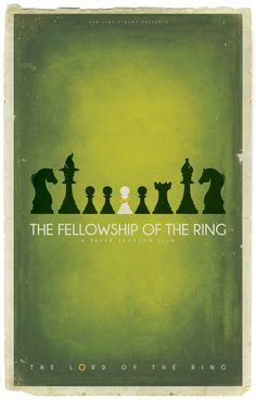 Lord of the Rings chess posters