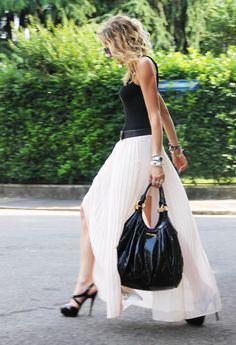 Pink  , Zara in Skirts, Miu Miu in Bags, Miu Miu in Heels / Wedges, Hermes in Belts, Yves Saint Laurent in Glasses / Sunglasses, Viridì in Jewelry