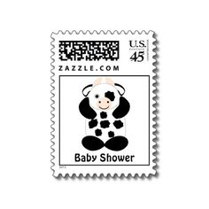 Cute cow baby shower postage. wish i saw this before i sent mine out!!!