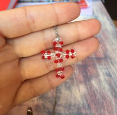 Beautiful Silver plated cross with Swarovski Crystals