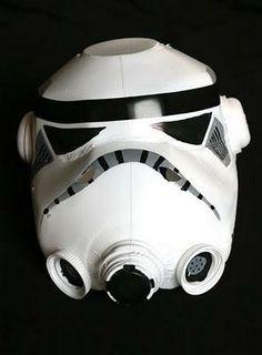How to make a (decent-looking) Stormtrooper helmet out of milk jugs   Blastr