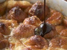 Krispie Kreme bread pudding with chocolate glaze