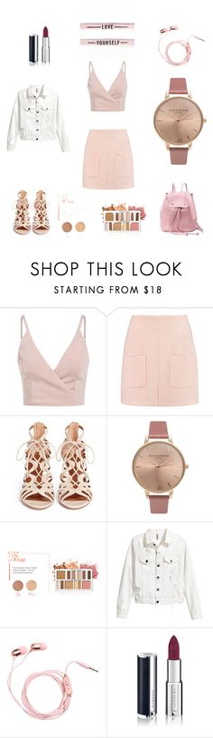 """Untitled #2"" by tatuli-togoxia ❤ liked on Polyvore featuring See by Chloé, Aquazzura, Olivia Burton, BHCosmetics and Givenchy"